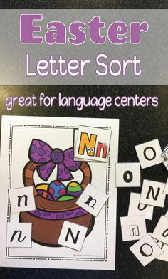Work on letter recognition in different fonts with these fun Easter themed letter sorting mats!