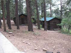 Beautiful rustic cabins at the Grand Canyon