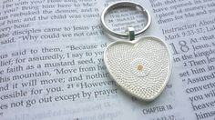 Faith of a mustard seed keychain Check out this item in my Etsy shop https://www.etsy.com/listing/220236007/heart-keychain-mustard-seed-keychain