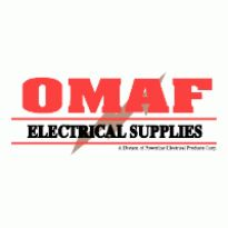 Omaf Electrical Supplies Logo. Get this logo in Vector format from http://logovectors.net/omaf-electrical-supplies/