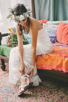 Sandals wedding dress collection
