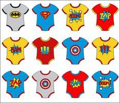Baby Superhero Onesies Clip Art, Superhero Comic Book Onesies Boom Zap Bam Crash Digital Clipart - I Superhero Baby Shower, Baby Boy Shower, Comic Book Superheroes, Comic Books, Superhero Clipart, Superhero Tshirt, Superhero Ideas, Book Clip Art, Comic Text