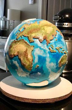 Globe Cake Cake Pops, Globe Cake, Earth Cake, Planet Cake, Travel Cake, 30 Birthday Cake, Cake Business, Dream Cake, Novelty Cakes