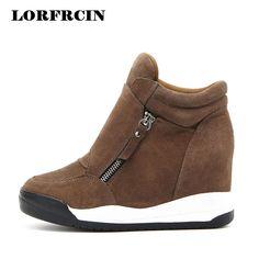 LORFRCIN 2017 Wedge Shoes Hidden Heels Women's Elevator Shoes Casual Shoes For Women With Zipper Wedge Black Brown High heels #Black high heels http://www.ku-ki-shop.com/shop/black-high-heels/lorfrcin-2017-wedge-shoes-hidden-heels-women-s-elevator-shoes-casual-shoes-for-women-with-zipper-wedge-black-brown-high-heels/