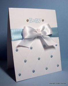 Quilted Look Baby Card
