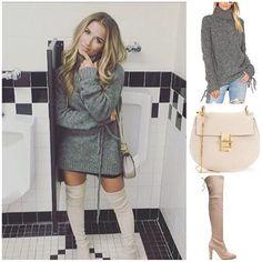 Jessie James Decker wore a Lovers + Friends sweater, Chloe bag, and Stuart Weitzman boots  Shopping info at www.starstyle.com  #jessiejamesdecker  #chloe  #starstyle #celebritystyle #loversandfriends #stuartweitzman #celebrityfashion #style  #streetstyle #fashion #ootd #lotd #fashionblog #styleblog