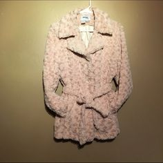 Sisters OUTWEAR Floral Design coat Faux fur 100% polyester draw rope 3 button closure 2 side pockets Jackets & Coats
