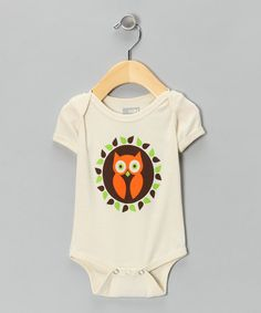 Take a look at this Natural Owl of View Organic Short-Sleeve Bodysuit - Infant by All Good Living Kids on #zulily today!