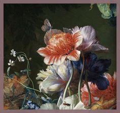 Jan van Huysum 1724, Bouquet of Flowers in an Urn