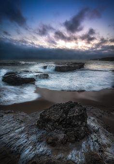 Panther Beach and Hole In the Wall Beach sunset Santa Cruz California