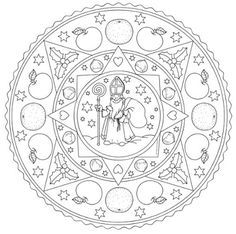 Idea trip: Coloring page for St Nicholas Day Christmas Crafts For Kids, Christmas Colors, Winter Christmas, Pipe Cleaner Animals, St Nicholas Day, Coloring Pages For Grown Ups, Saint Nicolas, Mandala Coloring Pages, Free Printable Coloring Pages