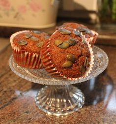 CARROT PUMPKIN SEED MUFFINS! Visit my website and try this delicious yet healthy recipe!!!