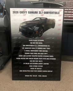 #carshowsign #carshowboard Just got done with this #showboard for a #chevy #camaro #zl1 #convertible! Order one for your car at showcarsign.com #chevycamaro #camaroconvertible #zl1camaro #camarozl1 #supercharged #superchargedcamaro