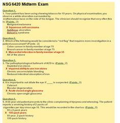 NSG 6420 MIDTERM EXAM 4 – QUESTION AND ANSWERS