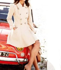 Style Me Pretty (Everyday Clothes) / Pea coat! Looks Style, Looks Cool, Style Me, Sweet Style, Cute Coats, Women's Coats, Classy And Fabulous, Look Chic, Dress Me Up