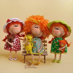 Доброе утро, дружочки Вот вам три рыжие девицы для бодрого настроения на весь день Детки шлют вам воздушные поцелуи и желают весёлой пятницы #дубоклёпы_куклы