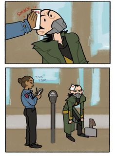 this loki is ILLEGALLY PARKED comic commission for jenchan2! commission info