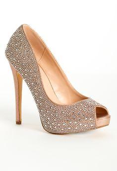 f66fccc6ca6 High heel open toe rhinestone pump features  • 5
