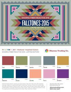 Falltones for 2015 are here! #fiberreactivedye #pantone #cotton #rayon #linen #hemp #fashionforecast