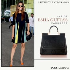 Straight from Esha Gupta's wardrobe! Buy Esha's prized Dolce & Gabbana Miss Sicilly tote today!