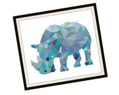 Abstract Elephant Cross Stitch Pattern Modern par PlatoSquirrel