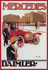 "1912 MERCEDES, Vintage Auto poster 15""x11"" giclee Print , DAIMLER, Classic"