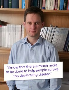 "Meet Geoff, one of our clinicians in Oxford. ""My biggest breakthrough so far has been getting a clinical trial set up for lung cancer and enrolling the first patients. The trial looks at treating lung cancer by combining traditional radiotherapy with a biological agent which blocks the signals that cancer cells can use to survive radiotherapy and continue to divide and grow."" #ActNowForResearch"
