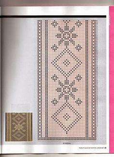 Crochet Curtain Pattern, Crochet Curtains, Curtain Patterns, Crochet Borders, Crochet Stitches Patterns, Counted Cross Stitch Patterns, Crochet Doilies, Filet Crochet, Crochet Table Topper