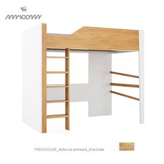 Łóżko Mroom na antresoli Treehouse białe