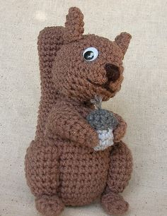 Crochet Squirrel Crochet Pattern by WolfDreamerOTH on Etsy