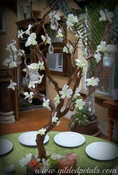 Gilded Petals Custom Floral Tree W/ Orchids