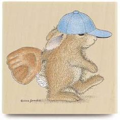 Time To Play - House Mouse HappyHoppers rubber stamps