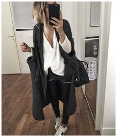 The slouchy cardigan is heaven! Fashion Mode, Fashion Outfits, Womens Fashion, Looks Style, Style Me, Winter Outfits, Casual Outfits, Winter Looks, Mode Inspiration