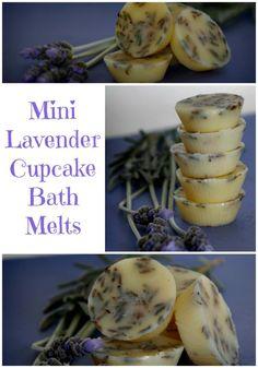 How to Make Mini Lavender Cupcake Bath Melts