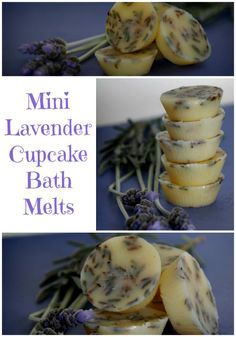 How to Make Mini Lavender Cupcake Bath Melts