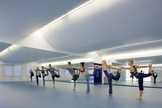 Yoga Diva's yoga studio cove lighting - bright enough for athletic activity yet nice clean ceiling planes