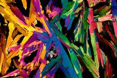 images de boissons au microscope jus orange Les images de boissons au microscope sont de lart moderne polarise photomicrographie photo m...