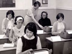 Flashback to when if these Post students needed to get an assignment done, they had to use a typewriter! How would you feel about earning your degree using one of these?! #Post125 #tbt