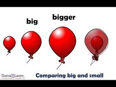 Comparing big and small. An animated demonstration of the difference between the concepts of big and small. Supports the development of foundation mathematic skills in the Australian Mathematic and Common Core curricula curricula.  For more movies and related learning games visit www.game2learn.com.au or search Game2learn at the Google Play Store to see our range of Android Apps now available.