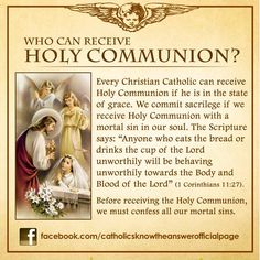 Who Can Receive Holy Communion?