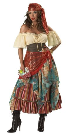 This gypsy fortune teller costume is a deluxe Halloween costume for women. Get this gypsy costume for adults for your next costume event. Plus Size Halloween, Adult Halloween, Halloween Party, Halloween Night, Women Halloween, Spirit Halloween, Halloween Ideas, Halloween Carnival, Halloween Celebration