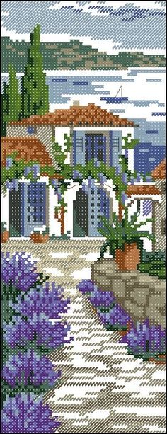 Thrilling Designing Your Own Cross Stitch Embroidery Patterns Ideas. Exhilarating Designing Your Own Cross Stitch Embroidery Patterns Ideas. Cross Stitch House, Cross Stitch Kits, Cross Stitch Charts, Funny Cross Stitch Patterns, Cross Stitch Designs, Cross Stitching, Cross Stitch Embroidery, Cross Stitch Landscape, Cross Stitch Bookmarks