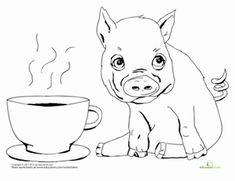 Flying pig pigs and coloring pages on pinterest for Flying pig coloring pages