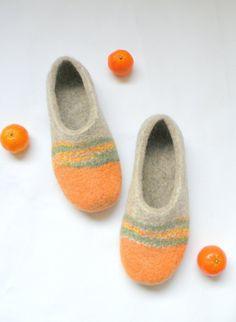 Zapatillas fieltro mandarinas naranja zapatillas zapatos