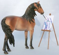 A painting model horse!