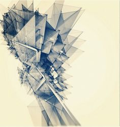 Polygon Tower Art Print by Intelligent Pencil Architecture Drawings, Concept Architecture, Architecture Design, Ux Design, Canvas Prints, Art Prints, Images, Photoshop, Illustration