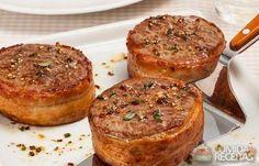 Receita de Medalhão de filé mignon com bacon e ervas em receitas de carnes, veja essa e outras receitas aqui!