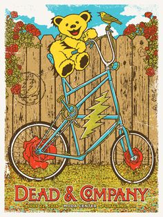 #Poster by #GIGART for Dead & Company and their show in Portland, Oregon on July 22, 2016 at the Moda Center. #deadandcompany #deadandco #gratefuldead