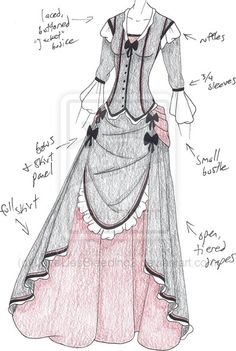 Designer Clothes, Shoes & Bags for Women Clothing Sketches, Dress Sketches, Dress Drawing, Drawing Clothes, Fashion Design Drawings, Fashion Sketches, Style Feminin, Japanese Outfits, Character Outfits