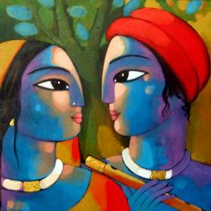 #Artwork at IndianArtCollectors by Sekhar Roy #AcrylicOnCanvas #IndianArt #IndianPaintings
